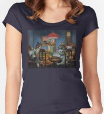 Dogs Playing D&D Women's Fitted Scoop T-Shirt
