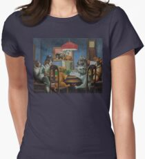 Dogs Playing D&D Women's Fitted T-Shirt
