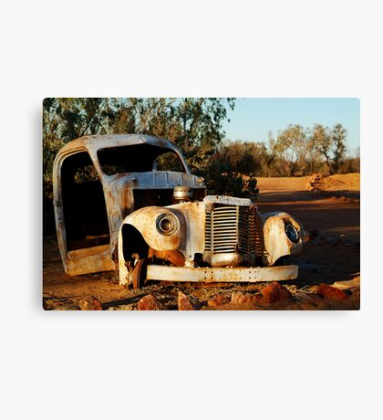 Truck Skeleton, Mt Dare Station Outback S.A. Canvas Print