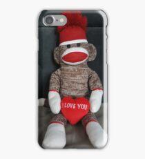 I Love You Sock Monkey iPhone Case/Skin