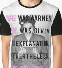 """Rosa Parks """"She Persisted"""" Graphic T-Shirt"""