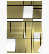 Mondrian cool fashion Poster