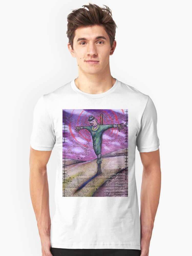 In the shadow of the scarecrow.. Unisex T-Shirt Front