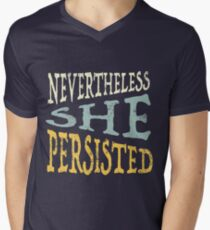 Nevertheless She Persisted Men's V-Neck T-Shirt