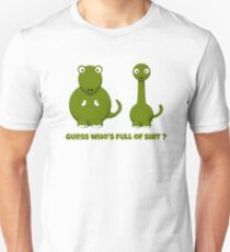 Guess who is full of shit funny adult Dino cartoon joke shirts and gifts T-Shirt