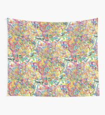 heptagons and loops exchanging phone numbers Wall Tapestry