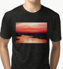 Earth Swamp Painting Tri-blend T-Shirt