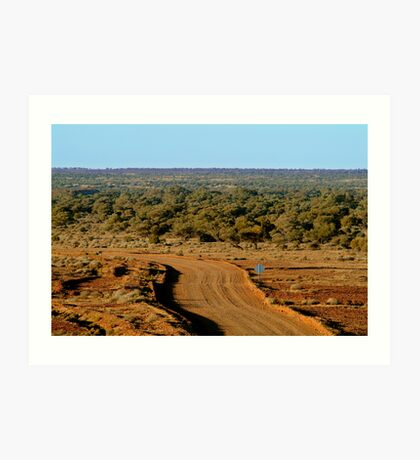 Oodnadatta Track, North Creek Art Print