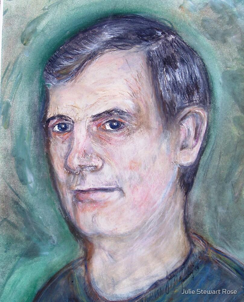 Dad - Pastels & Acrylic by Julie Stewart Rose