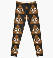Pixel Poop Emoji Leggings By Nxvemberregen Redbubble
