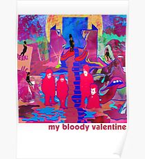My Bloody Valentine collage Poster
