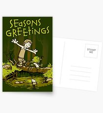Training We Are - Seasons Greetings card Postcards