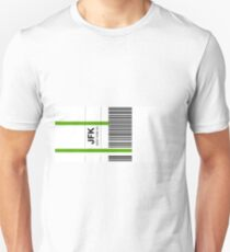 Airline luggage label - JFK Unisex T-Shirt