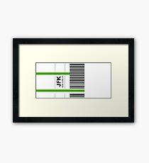 Airline luggage label - JFK Framed Print
