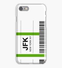 Airline luggage label - JFK iPhone Case/Skin
