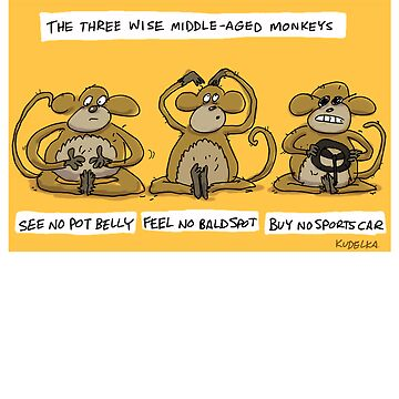 the three wise middle aged monkeys by kudelka