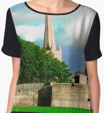 The walls of Derry, Northern Ireland Women's Chiffon Top
