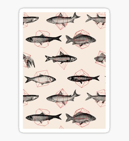 Fishes in Geometrics Sticker
