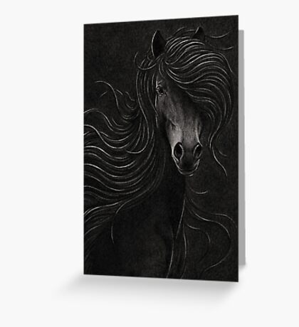 Night Horse Greeting Card