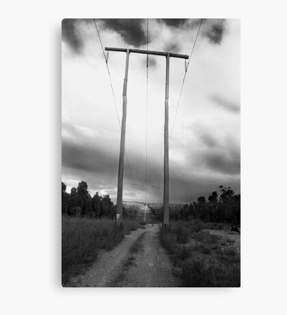 Powerlines Track Canvas Print