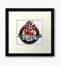 NO MERCY - Vintage Rooster - Red Framed Print