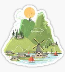Glitchscape Sticker