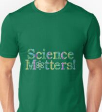 Science Matters! - White Outline Unisex T-Shirt