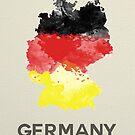 Gemaltes Deutschland von lonelyhumanoid