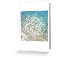 Water Mandala Greeting Card