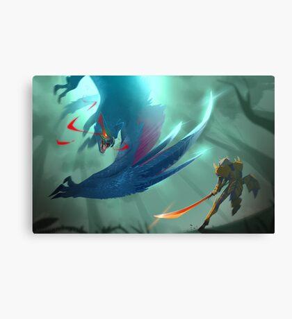 Nargacuga Hunt [Monster Hunter] Canvas Print