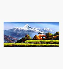 Panoramic View Of Beautiful Everest Mountain Photographic Print