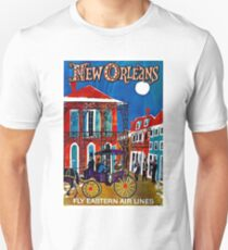 EASTERN AIRLINES; Fly to New Orleans Advertising Print T-Shirt