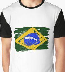 Brazilian Flag Graphic T-Shirt