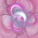Pink Abstract Fractal on Pink by charmarose