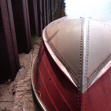 Rowboat ashore the ore dock by noback