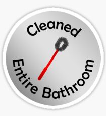 Adulting Merit Badge - Chores - Cleaned Entire Bathroom Sticker