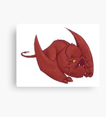 Little Smaug - Pixel Dragon Canvas Print