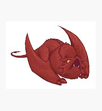 Little Smaug - Pixel Dragon Photographic Print