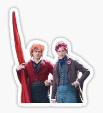 Enjolras and Marius Flower Crowns Sticker