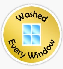 Adulting Merit Badge - Chores - Window Washing Sticker