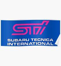 Subaru STI Poster