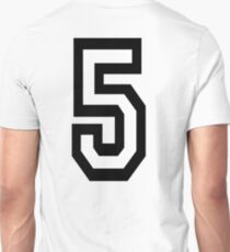5, TEAM, SPORTS, NUMBER 5, FIFTH, FIVE, Competition,  T-Shirt