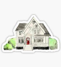 Watercolor Suburban House - Architecture Concept Art Style Sticker