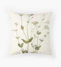Vintage Botanical Print Throw Pillow