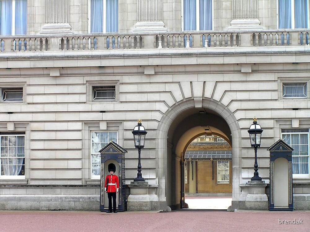 The sentry at Buckingham Palace, London by brendak