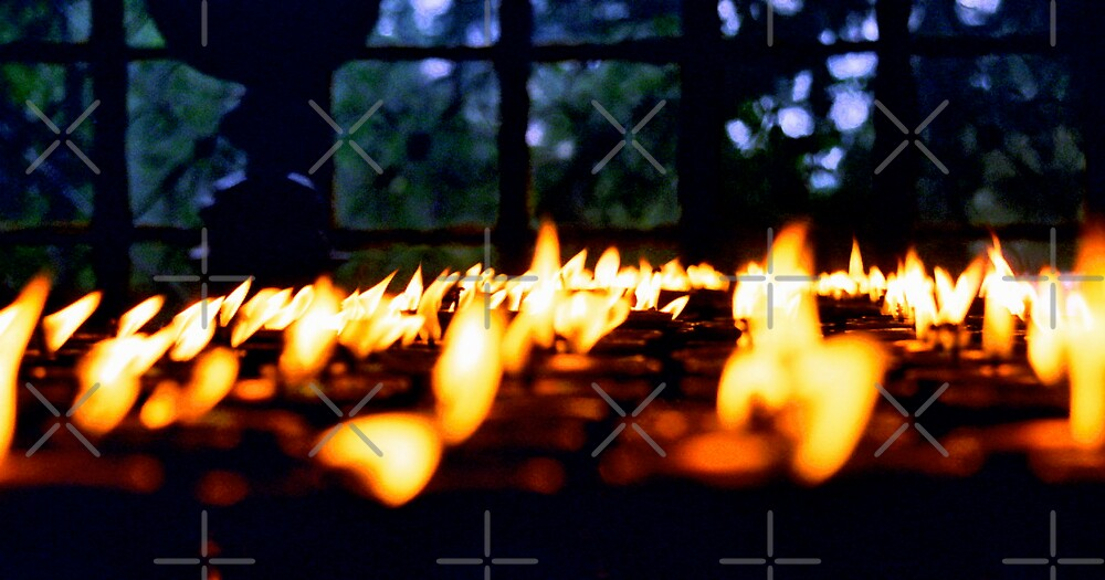 Eternal Puja Flames by ali guida