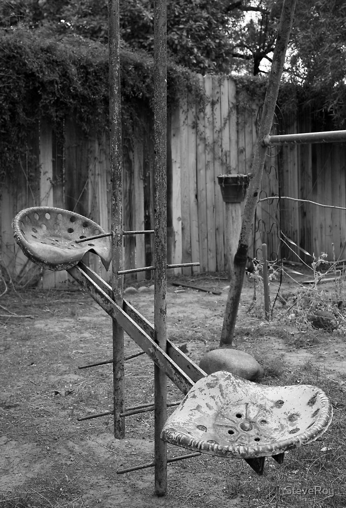 Days of Old... the backyard swing by SteveRoy