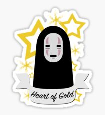 No Face Heart of Gold Sticker