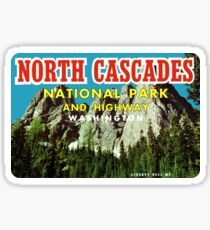 North Cascades National Park Vintage Travel Decal Sticker