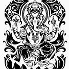 Tribal Ganesh by TurkeysDesign
